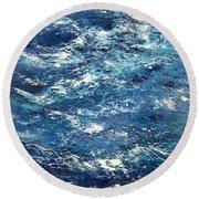 Ocean's Blue Round Beach Towel