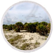 Oceans Bluff   Round Beach Towel