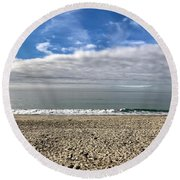 Round Beach Towel featuring the photograph Ocean's Edge by Kim Nelson