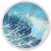 Ocean's Might Round Beach Towel