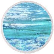 Oceans Of Teal Round Beach Towel