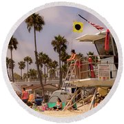 Oceanside Beach Round Beach Towel