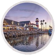 Oceanside Harbor Round Beach Towel