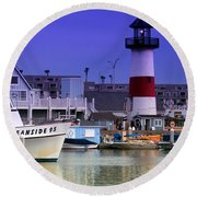 Oceanside Light Round Beach Towel