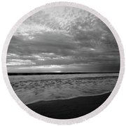 Round Beach Towel featuring the photograph Oceanside Surf by John F Tsumas