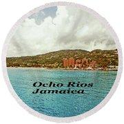 Ocho Rios Jamaica Round Beach Towel by Gary Wonning