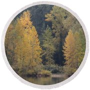 Round Beach Towel featuring the photograph October Fiesta by I\'ina Van Lawick