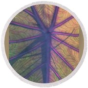 Round Beach Towel featuring the photograph October Leaf by Peg Toliver