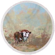 October Mist Round Beach Towel