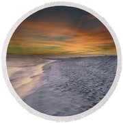 October Night Round Beach Towel