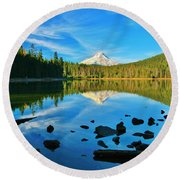 October On The Lake Round Beach Towel