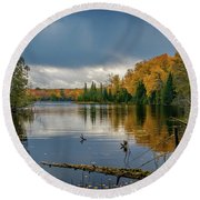October Storm Round Beach Towel