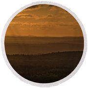 October Sunset In Acadia Round Beach Towel