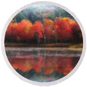 October Trees - Autumn  Round Beach Towel by MTBobbins Photography