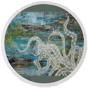 Octopus Of The Deep Round Beach Towel