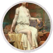 Odalisque Round Beach Towel