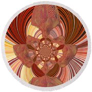 Oddity Abstract Round Beach Towel