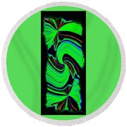 Round Beach Towel featuring the digital art Ode To Green by Will Borden