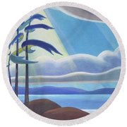 Ode To The North II Round Beach Towel