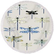 Odonata Round Beach Towel by Sarah Hough