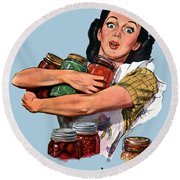 Of Course I Can -- Ww2 Propaganda Round Beach Towel