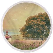 Of Days Gone By Round Beach Towel by Laurie Search