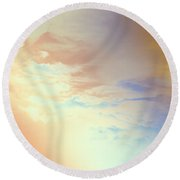 Of Heaven Round Beach Towel