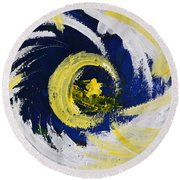 Of Stars And Moons Round Beach Towel