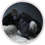 Off Duty Gorilla Round Beach Towel