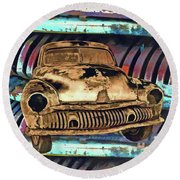 Round Beach Towel featuring the photograph Off The Grid 23 by Lynda Lehmann