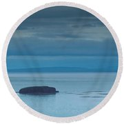 Off The Iceland Coast Round Beach Towel by Joe Bonita