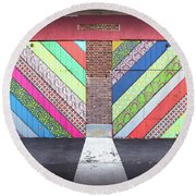 Round Beach Towel featuring the photograph Off The Wall - Double by Colleen Kammerer