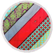 Off The Wall - Pattern 4 Round Beach Towel by Colleen Kammerer