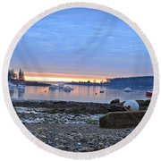 Office Of The Sea Round Beach Towel