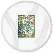 17-offspring While I Was On The Path To Perfection 17 Round Beach Towel