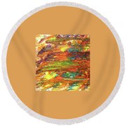5-offspring While I Was On The Path To Perfection 5 Round Beach Towel