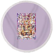 6-offspring While I Was On The Path To Perfection 6 Round Beach Towel