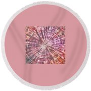8-offspring While I Was On The Path To Perfection 8 Round Beach Towel