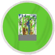 9-offspring While I Was On The Path To Perfection 9 Round Beach Towel