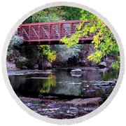 Ogden River Bridge Round Beach Towel