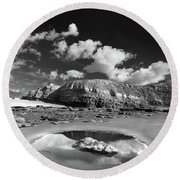 Ogmore By Sea 3 Round Beach Towel