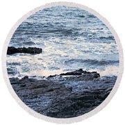 Ogmore Tides Round Beach Towel