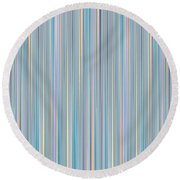 Oh Baby Blue - Stripes Round Beach Towel