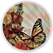 Oh Beautiful Butterfly Round Beach Towel