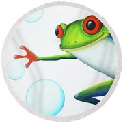 Oh Bubbles Round Beach Towel