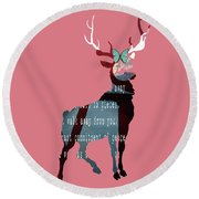 Oh Deer Round Beach Towel