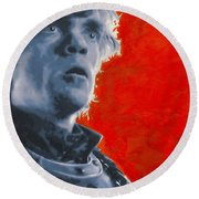 Round Beach Towel featuring the painting Tyrion Lannister by Luis Ludzska