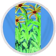 Oh Glorious Day Floral Round Beach Towel