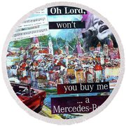 Oh Lord Round Beach Towel