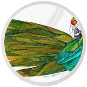 Oh Mya Round Beach Towel